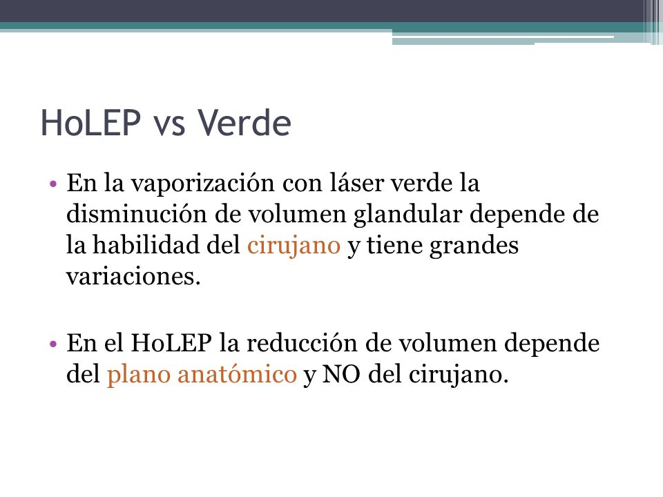 HoLEP vs Verde