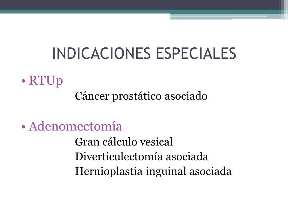 INDICACIONES ESPECIALES