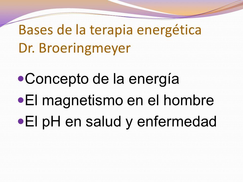 Bases de la terapia energética Dr. Broeringmeyer