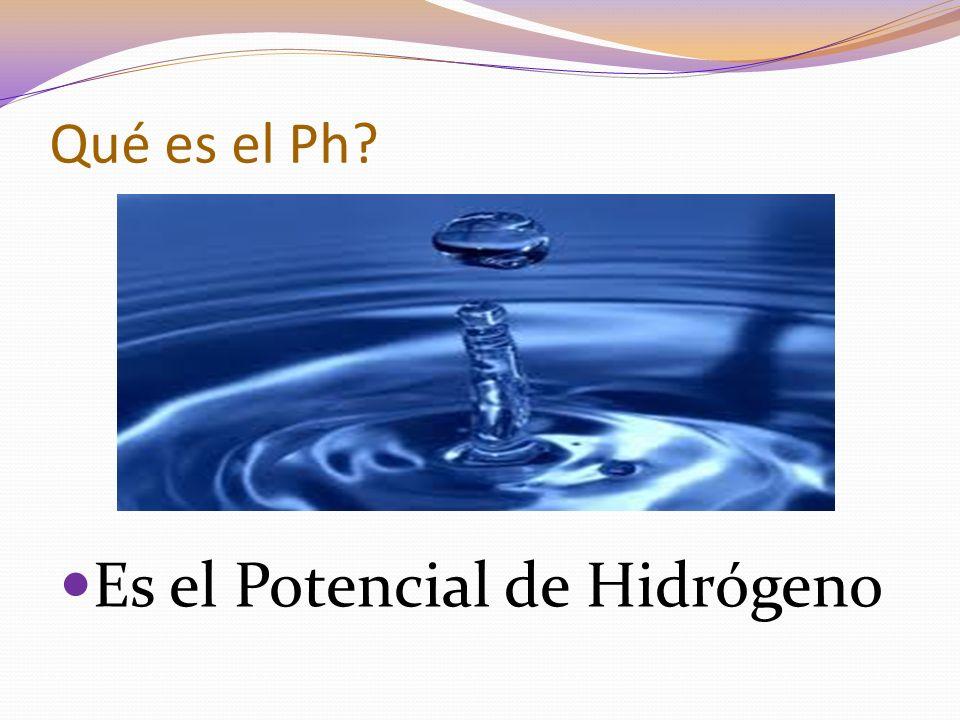 Es el Potencial de Hidrógeno