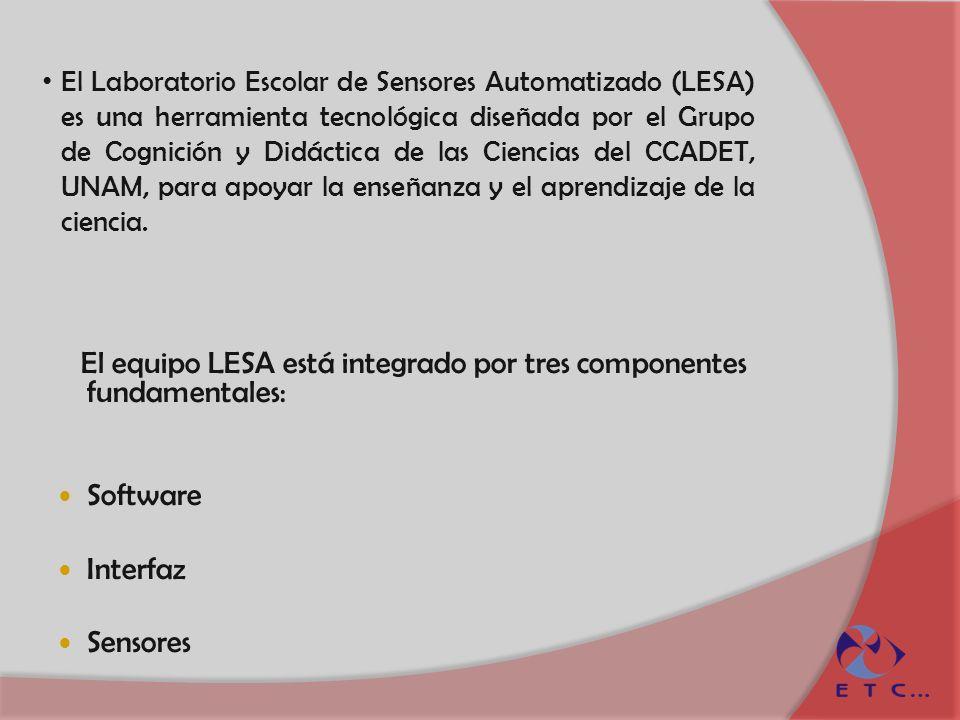 El equipo LESA está integrado por tres componentes fundamentales: