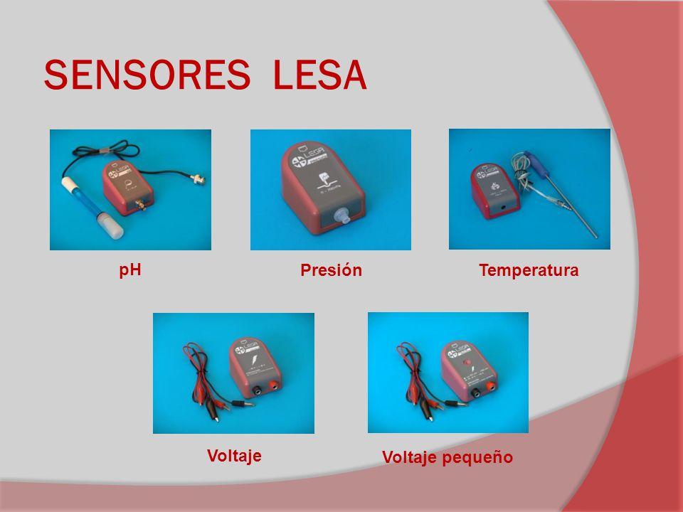 SENSORES LESA pH Presión Temperatura Voltaje Voltaje pequeño