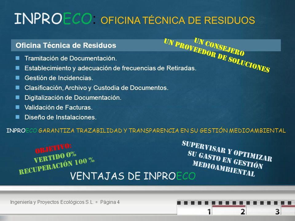 INPROECO: OFICINA TÉCNICA DE RESIDUOS