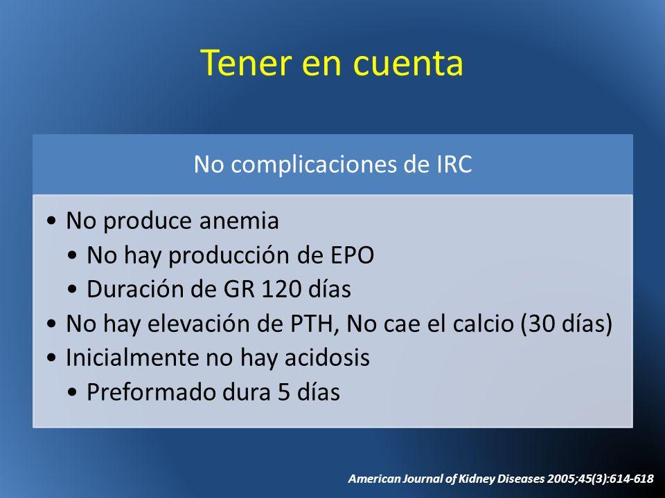 No complicaciones de IRC