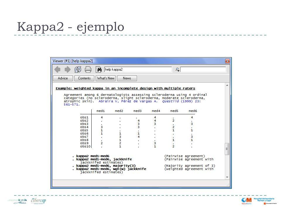 Kappa2 - ejemplo