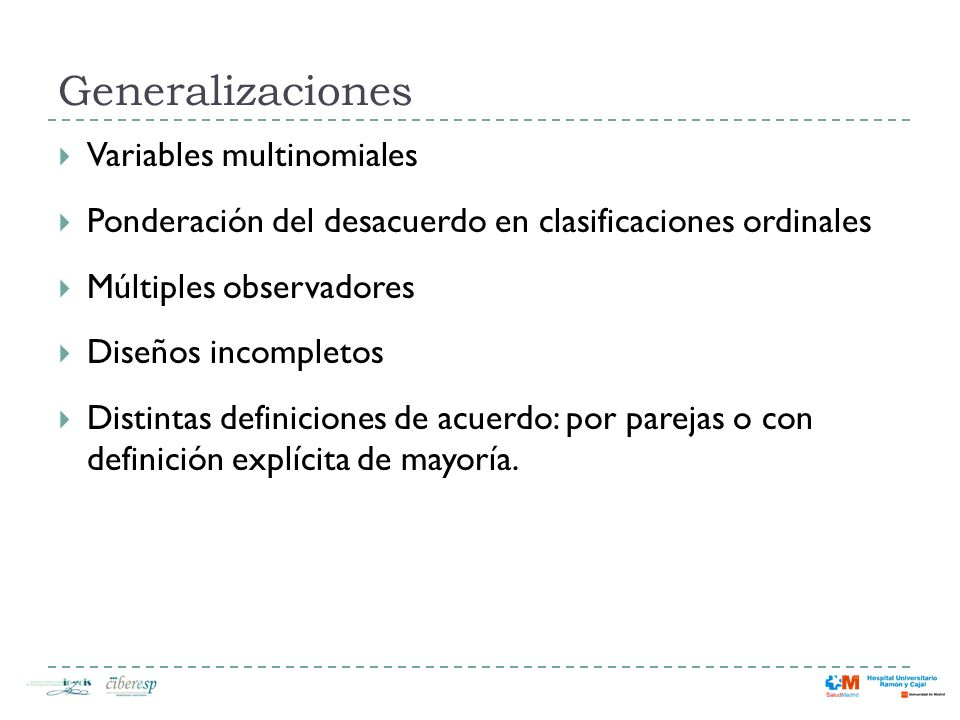 Generalizaciones Variables multinomiales