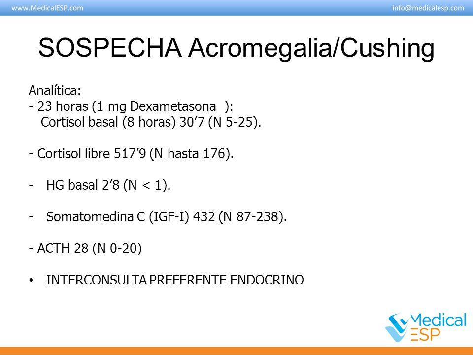 SOSPECHA Acromegalia/Cushing