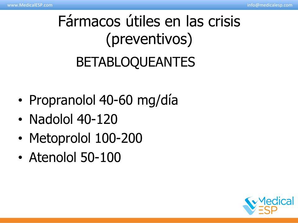 Fármacos útiles en las crisis (preventivos)
