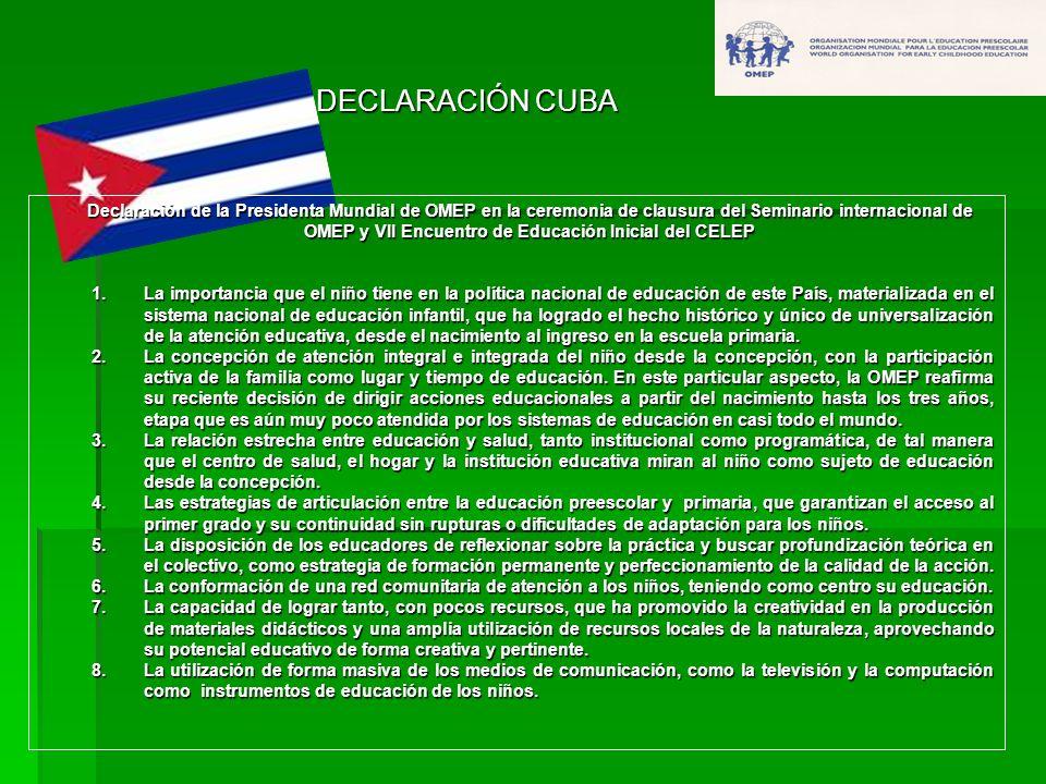 DECLARACIÓN CUBA