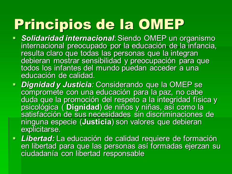 Principios de la OMEP