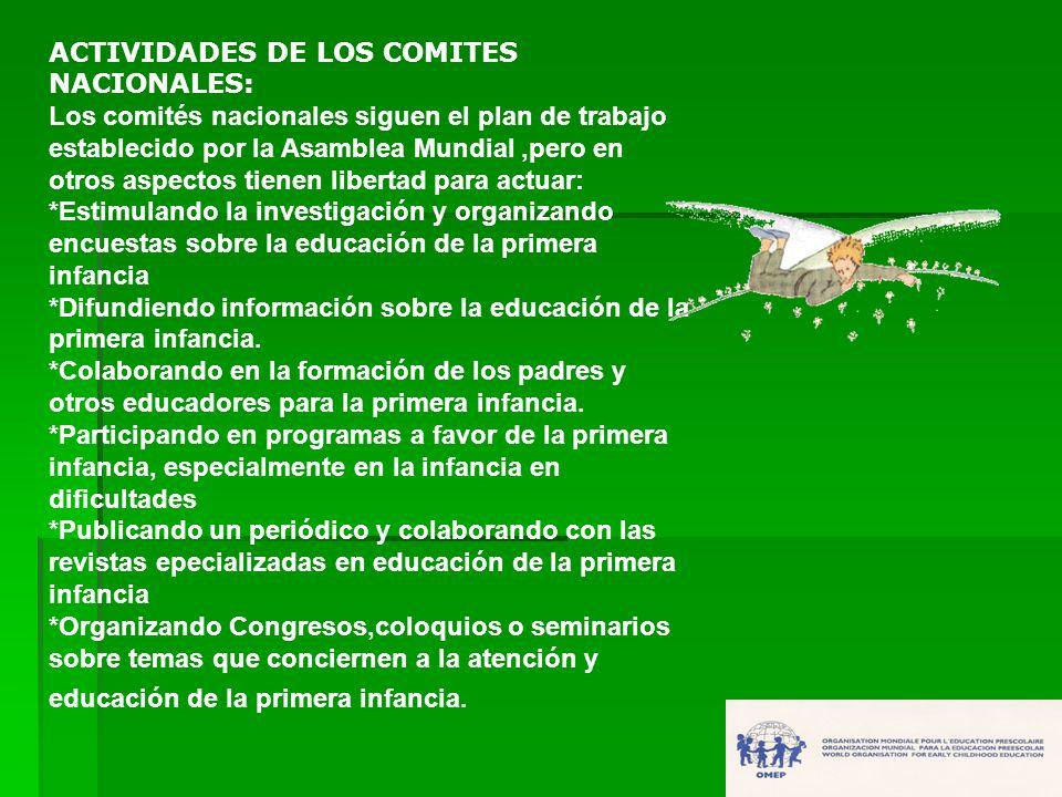 ACTIVIDADES DE LOS COMITES NACIONALES: