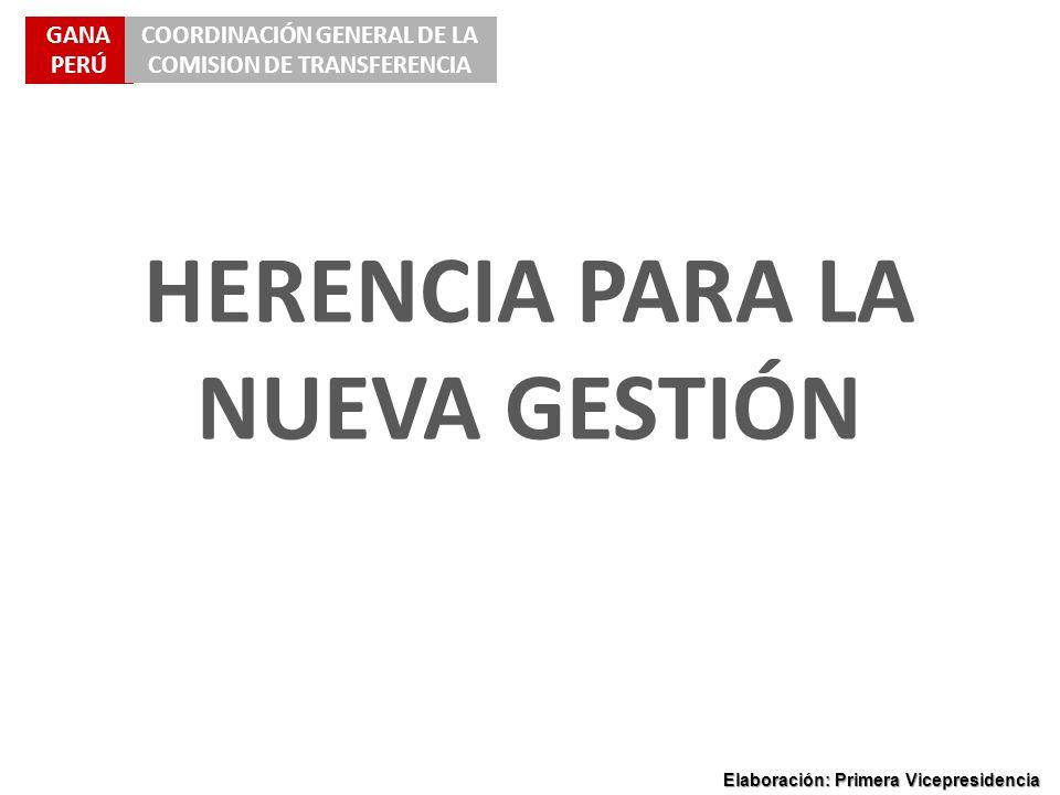HERENCIA PARA LA NUEVA GESTIÓN