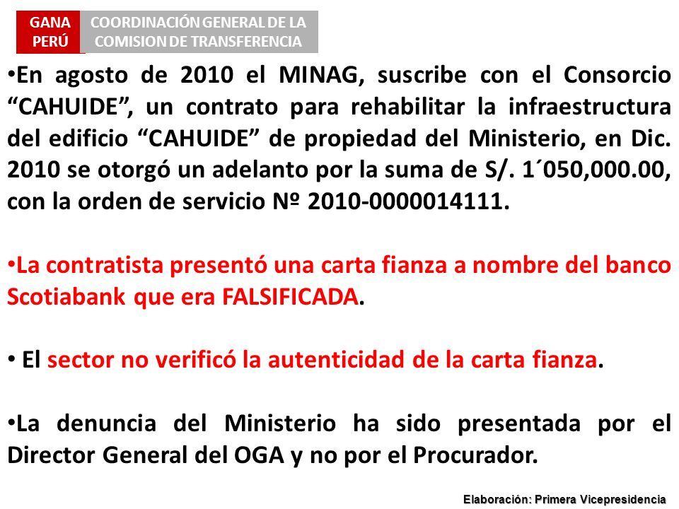 COORDINACIÓN GENERAL DE LA COMISION DE TRANSFERENCIA