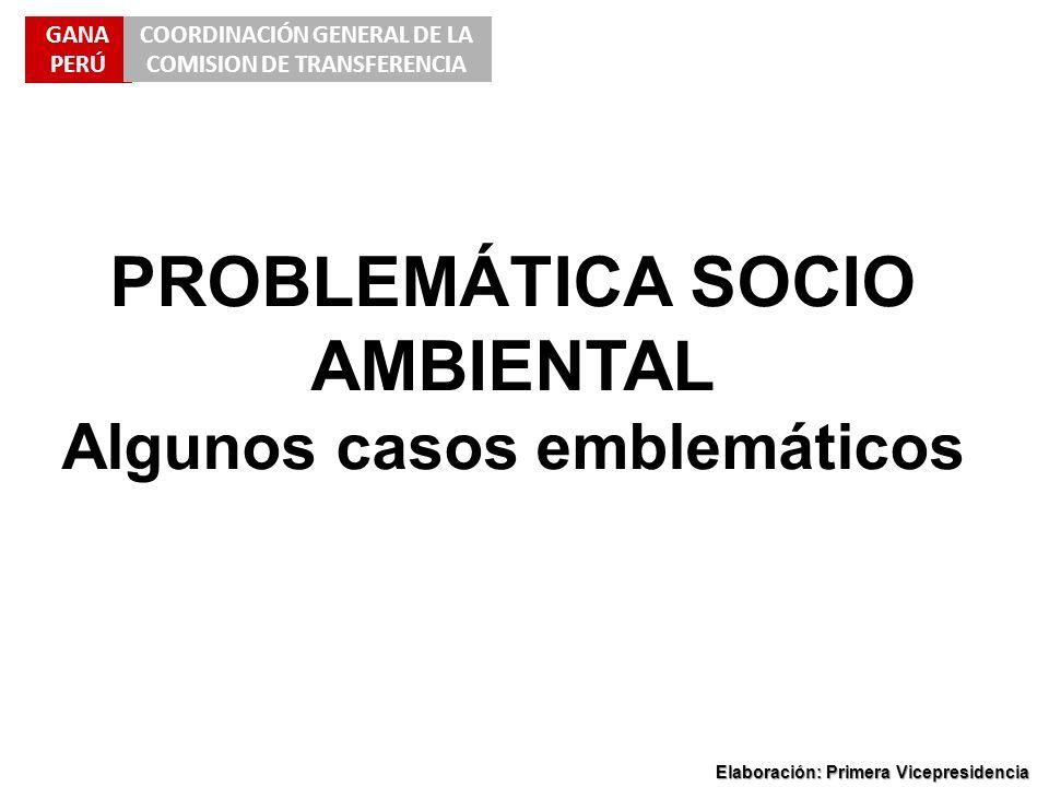 PROBLEMÁTICA SOCIO AMBIENTAL Algunos casos emblemáticos