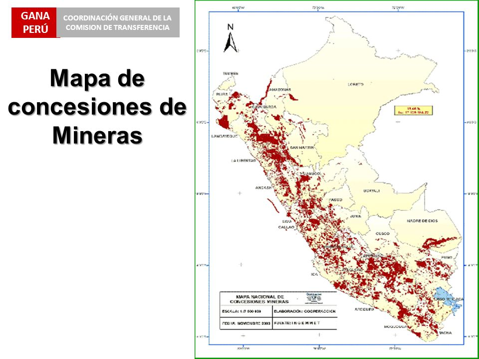 Mapa de concesiones de Mineras