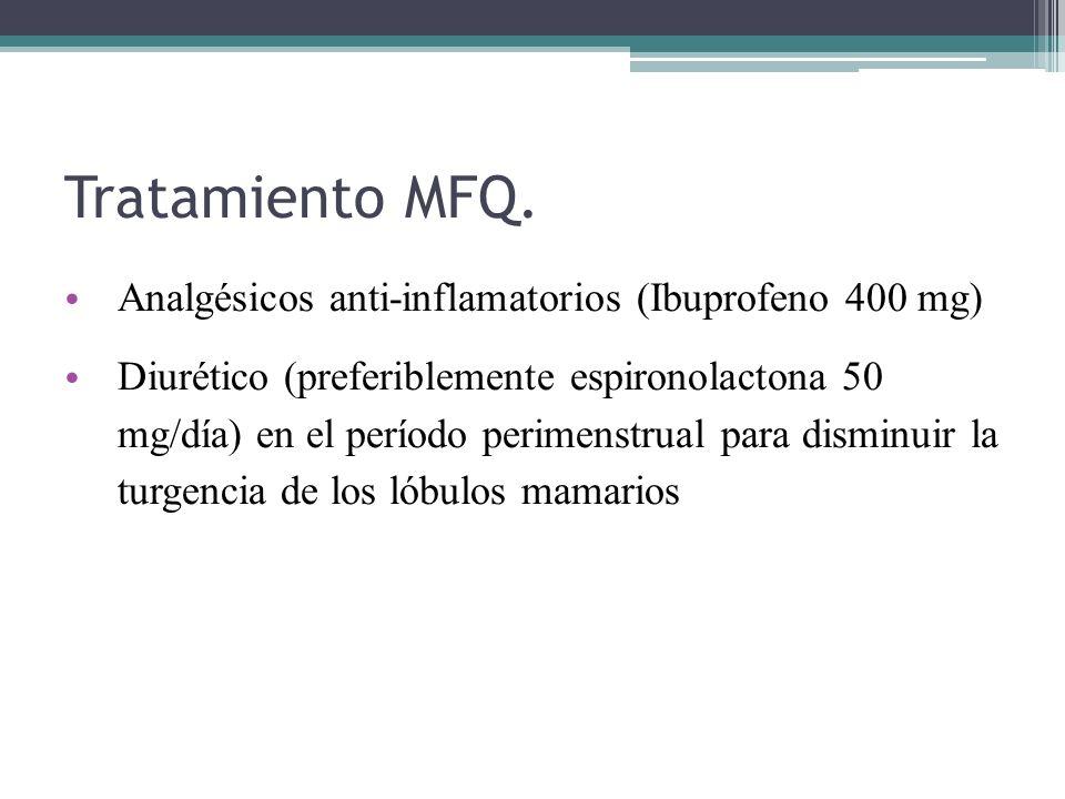 Tratamiento MFQ. Analgésicos anti-inflamatorios (Ibuprofeno 400 mg)