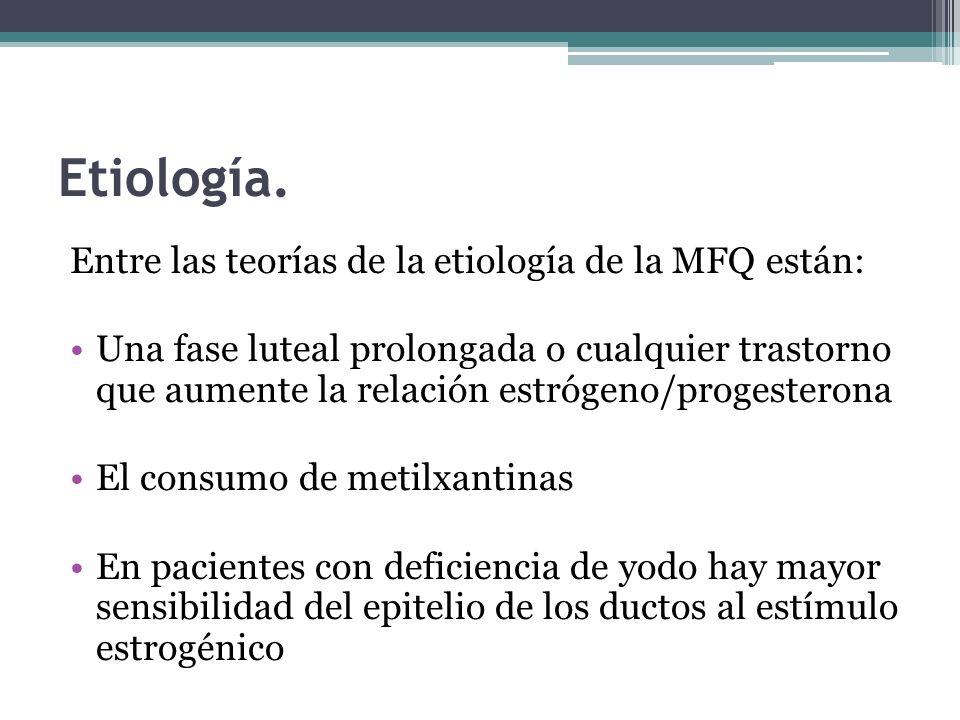 Etiología. Entre las teorías de la etiología de la MFQ están: