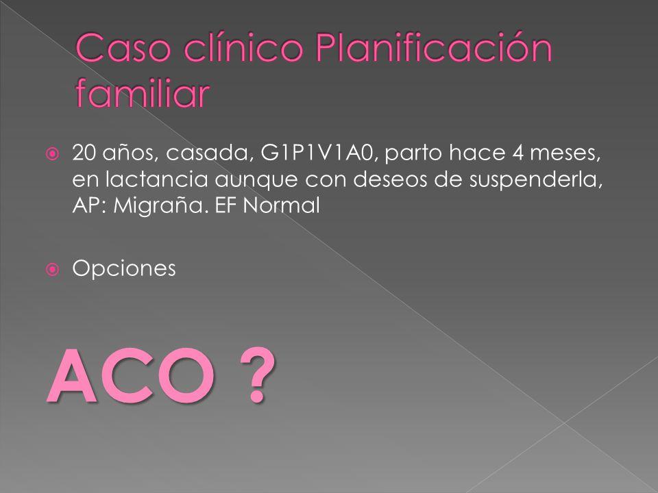 Caso clínico Planificación familiar