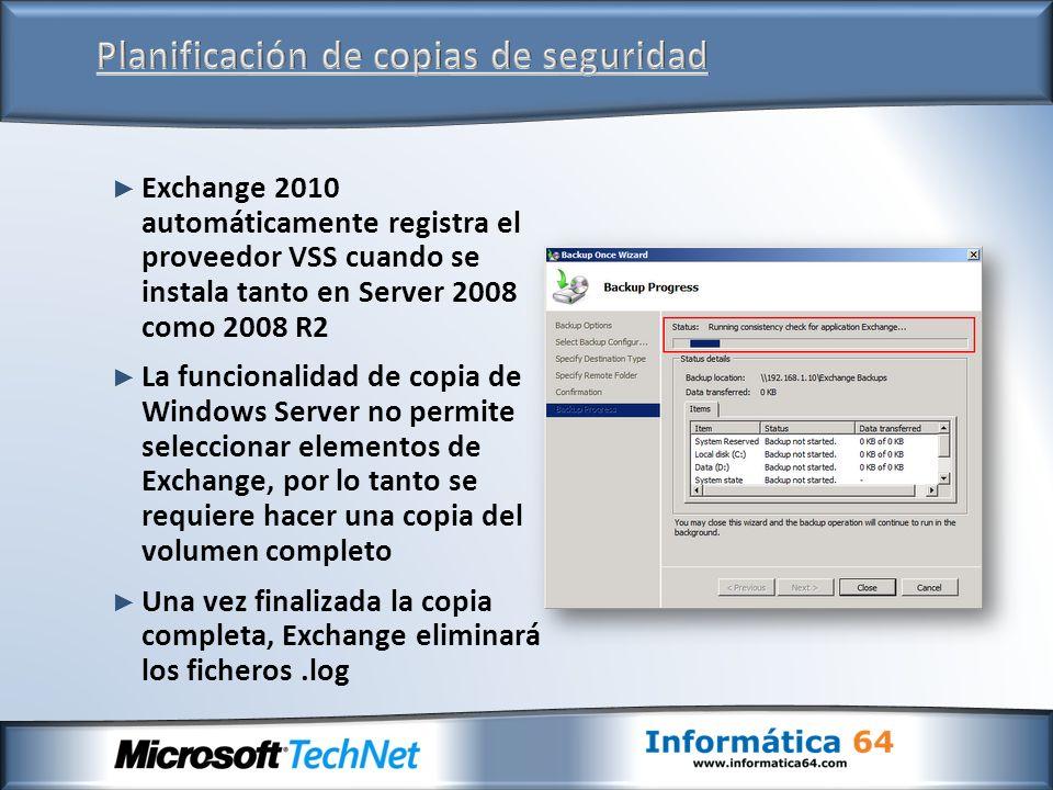 Planificación de copias de seguridad