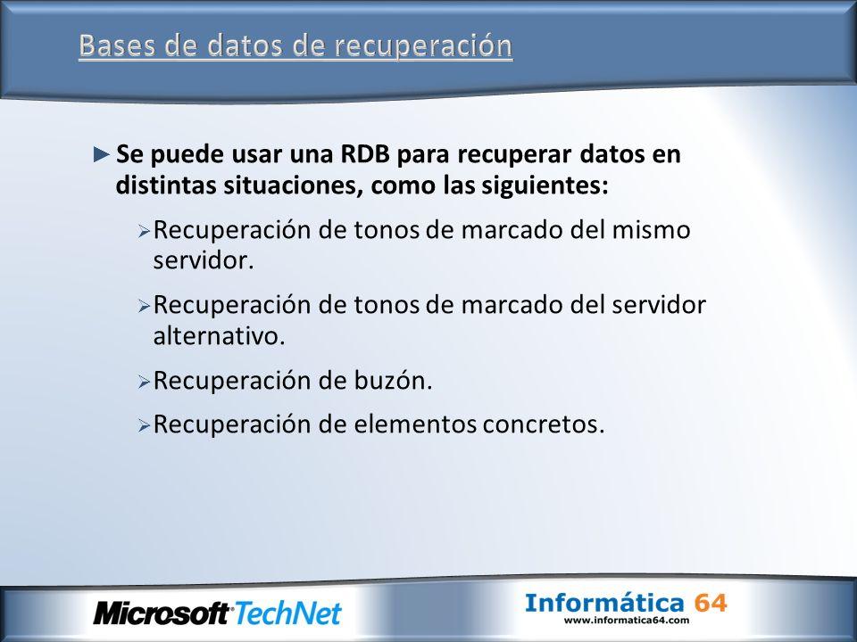 Bases de datos de recuperación