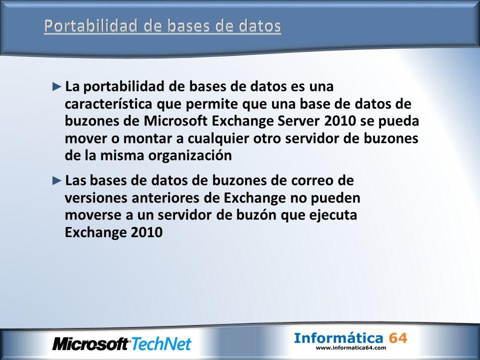 Portabilidad de bases de datos