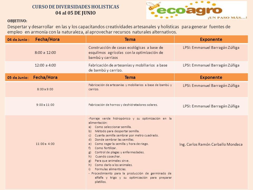 CURSO DE DIVERSIDADES HOLISTICAS 04 al 05 DE JUNIO