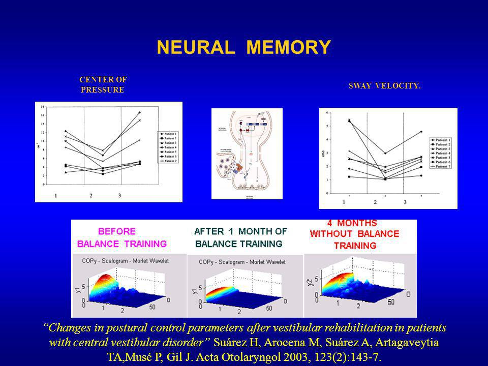 NEURAL MEMORY CENTER OF PRESSURE. SWAY VELOCITY.