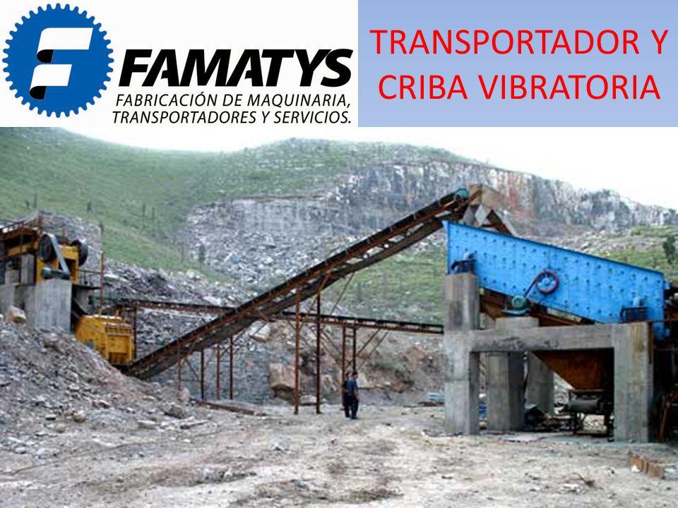 TRANSPORTADOR Y CRIBA VIBRATORIA