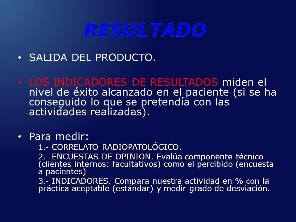 RESULTADO SALIDA DEL PRODUCTO.