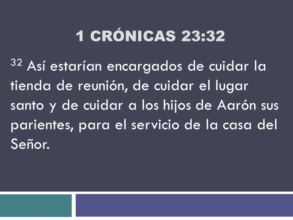 1 Crónicas 23:32