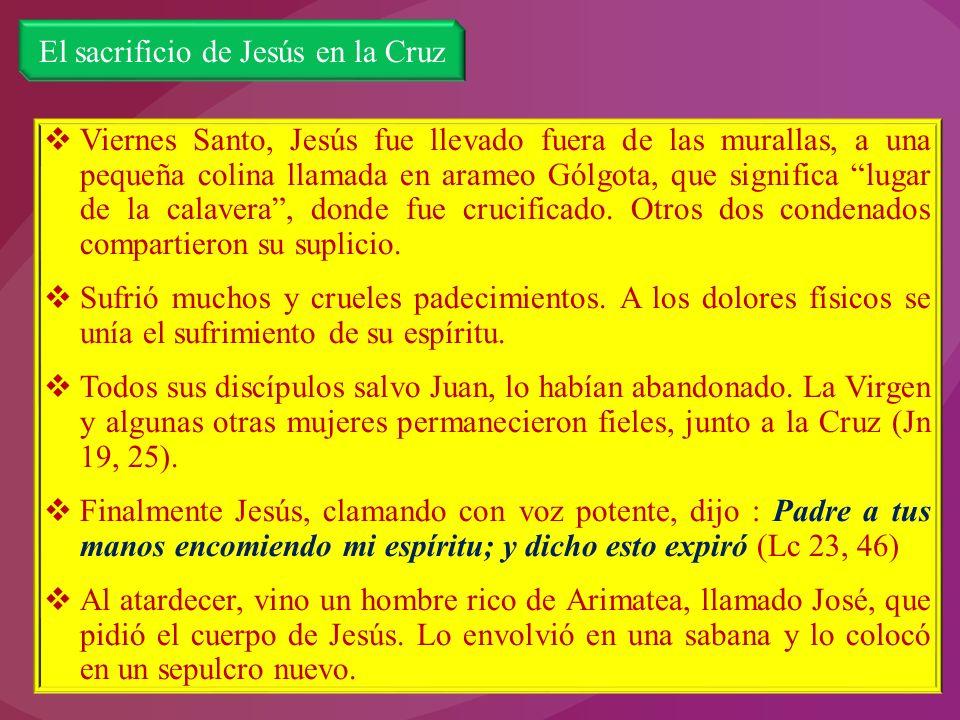El sacrificio de Jesús en la Cruz