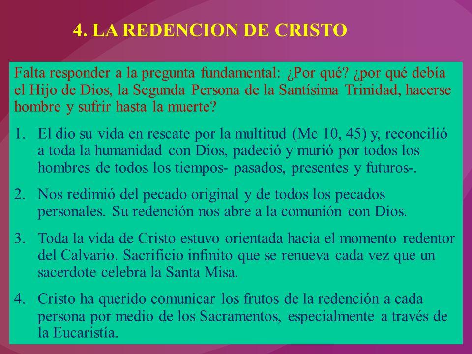 4. LA REDENCION DE CRISTO