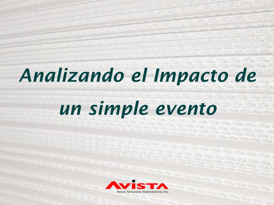 Analizando el Impacto de un simple evento
