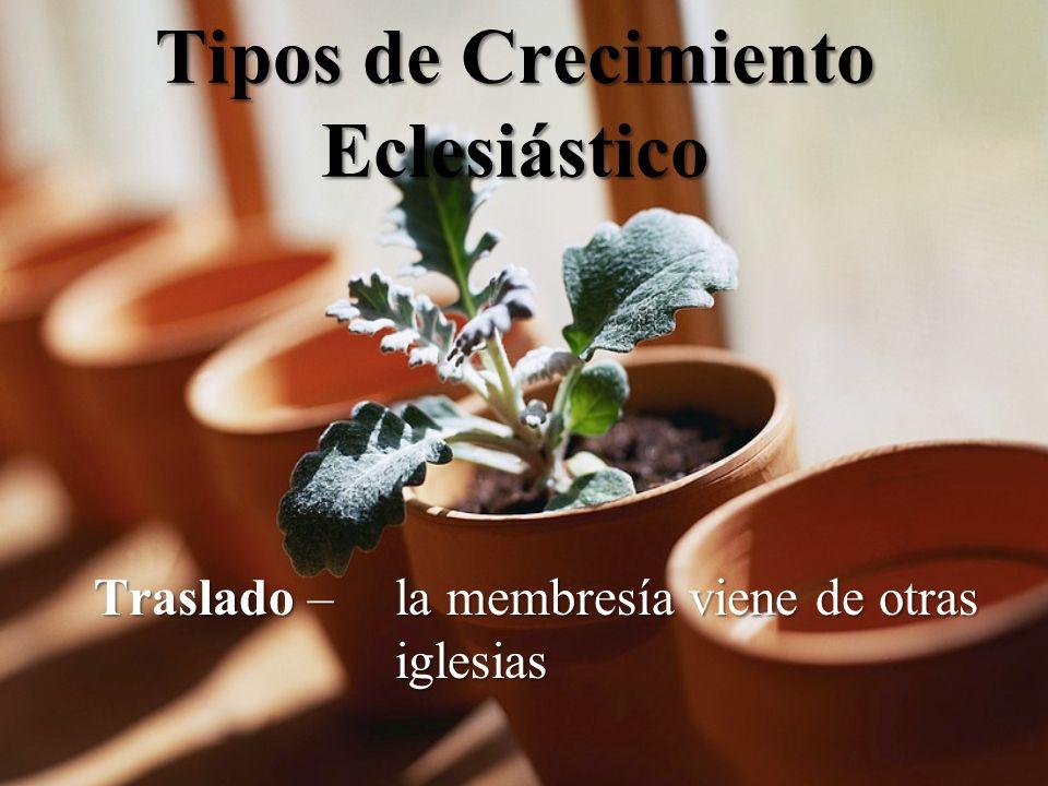Tipos de Crecimiento Eclesiástico