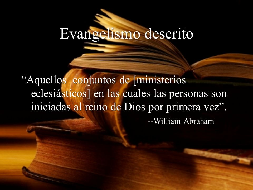 Module 3, Leader's Notes Slide 23. Evangelismo descrito.