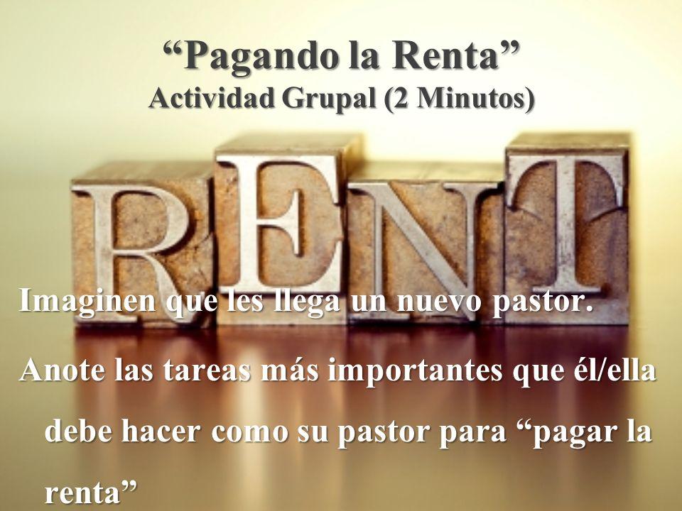 Pagando la Renta Actividad Grupal (2 Minutos)