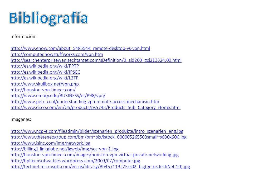 Bibliografía Información: