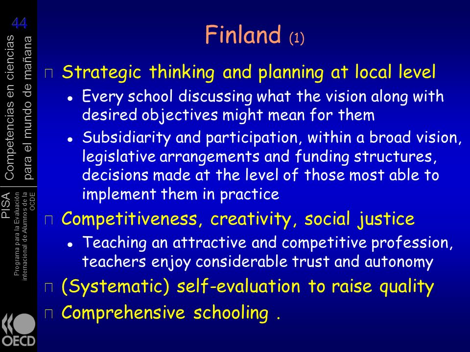 Finland (1) Strategic thinking and planning at local level