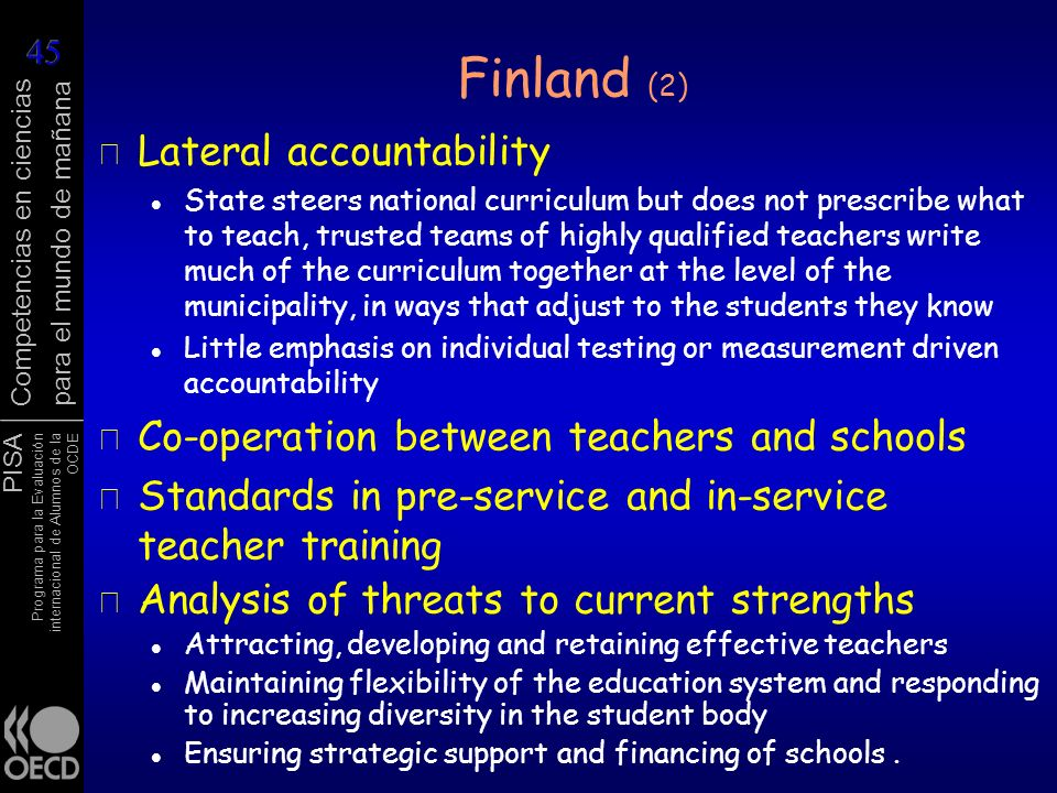 Finland (2) Lateral accountability