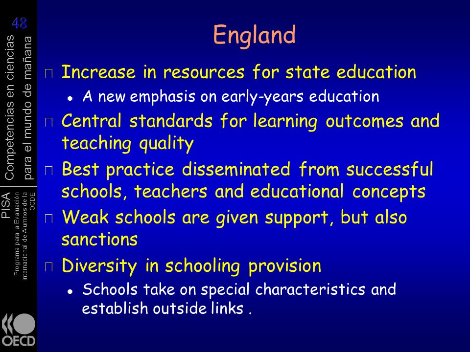 England Increase in resources for state education
