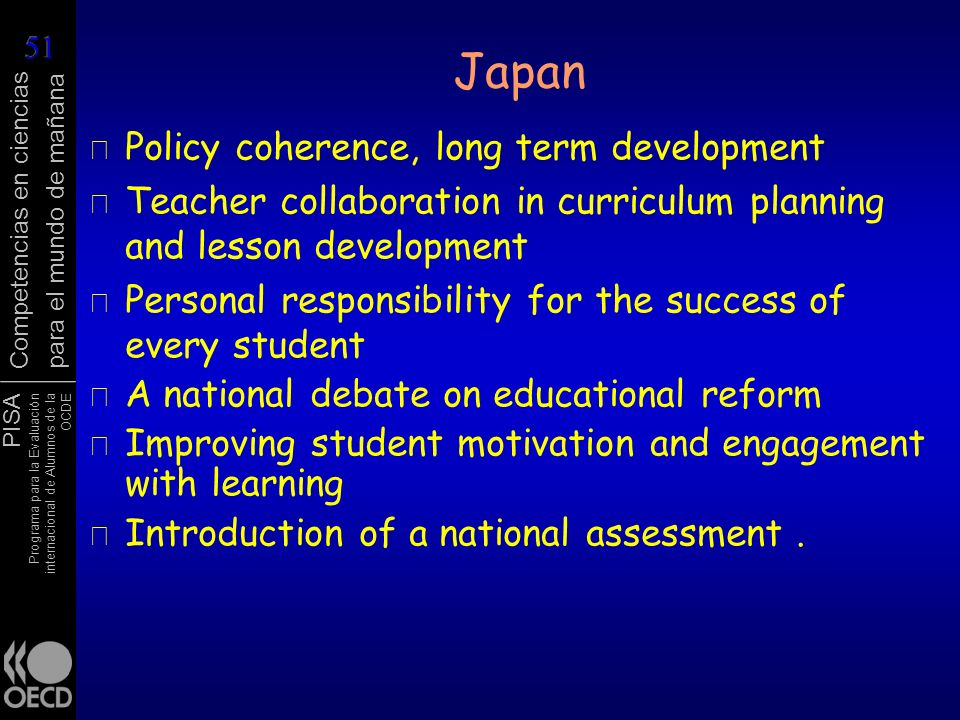 Japan Policy coherence, long term development