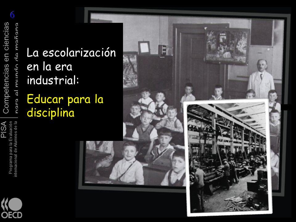 La escolarización en la era industrial: