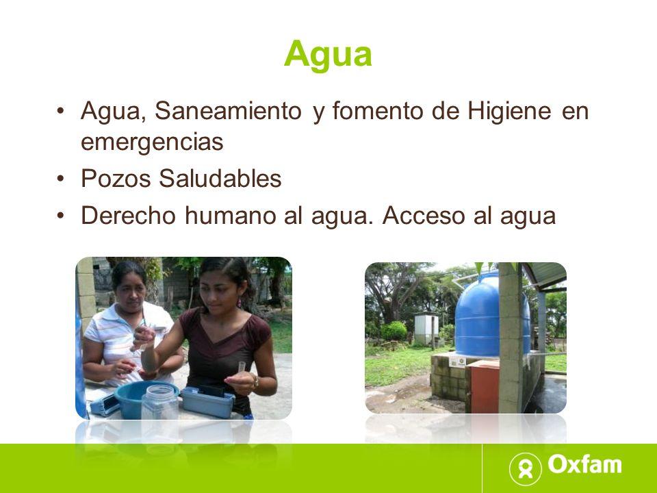 Agua Agua, Saneamiento y fomento de Higiene en emergencias
