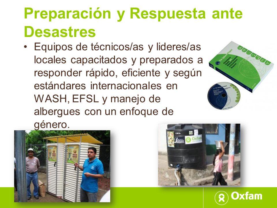 Preparación y Respuesta ante Desastres