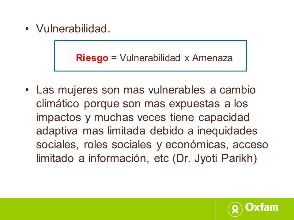 Riesgo = Vulnerabilidad x Amenaza