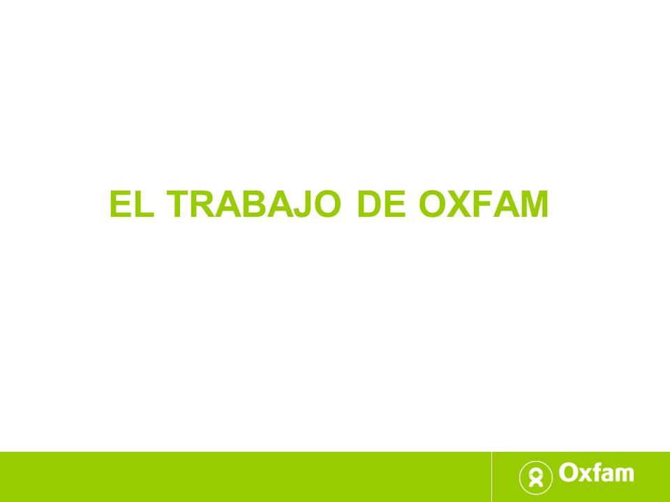 El trabajo de oxfam