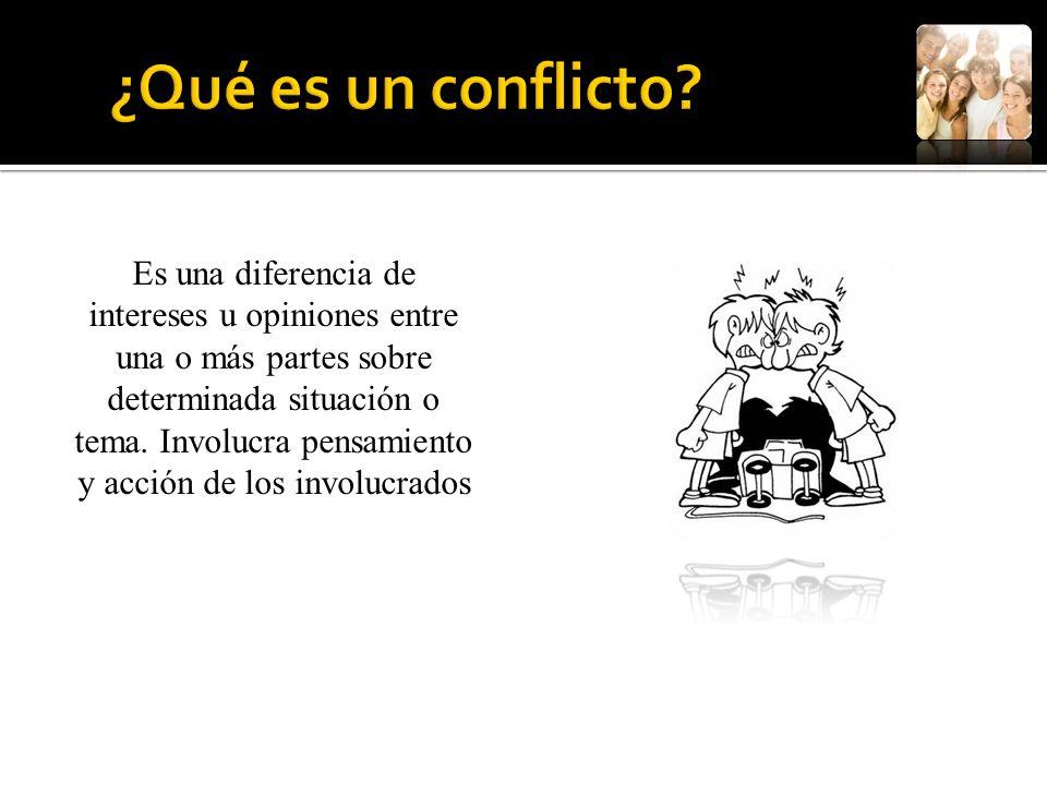 ¿Qué es un conflicto