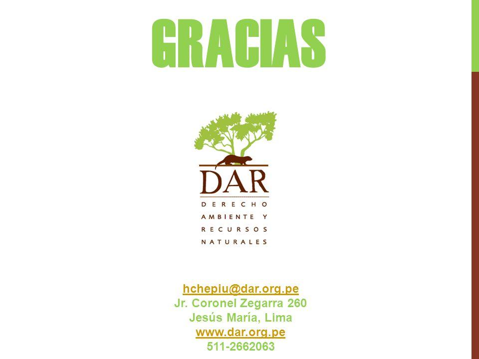 GRACIAS hchepiu@dar.org.pe Jr. Coronel Zegarra 260 Jesús María, Lima