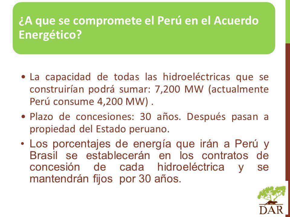 ¿A que se compromete el Perú en el Acuerdo Energético