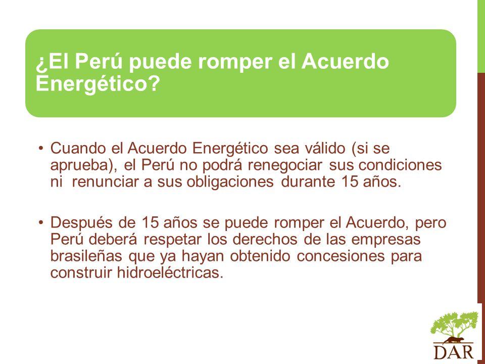 ¿El Perú puede romper el Acuerdo Energético